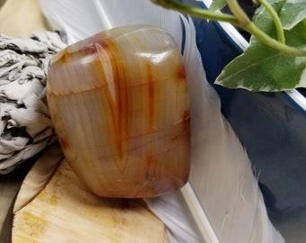 Carnelian Palm Stone C32