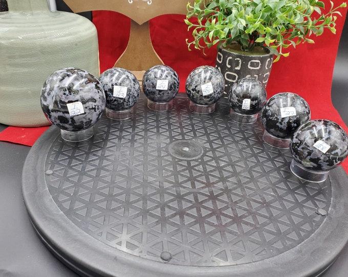 Indigo Gabbro Spheres