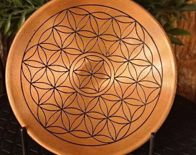 Flower of Life Copper Plate/Crystal Grid