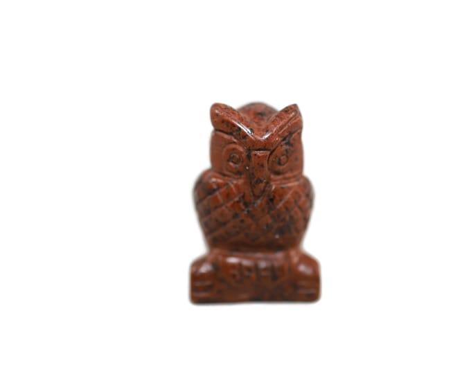 Mahogany Obsidian Owl