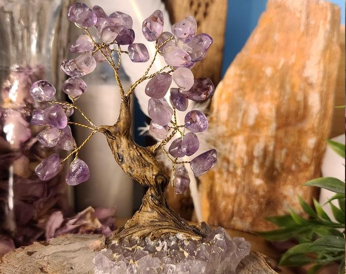 Amethyst Bonsai Tree A422