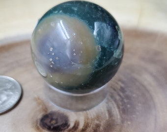 Ocean Jasper Sphere, 39 mm - 85 grams