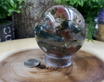 Ocean Jasper Sphere, 78 mm - 612 grams
