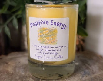 Crystal Journey Candle/Naturally Pure Soy/Positive Energy