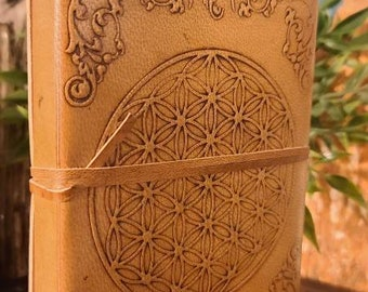 Leather Flower of Life Journal/Book of Shadows