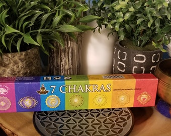 Green Tree 7 Chakras Masala Incense Sticks