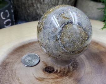 Ocean Jasper Sphere, 65 mm - 353 grams