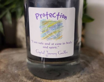 Crystal Journey Candle/Naturally Pure Soy/Protection