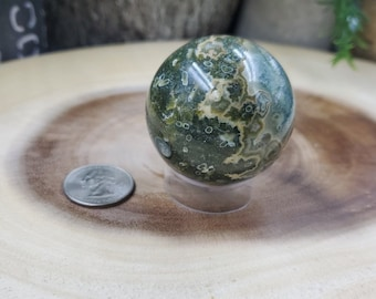 Ocean Jasper Sphere, 48 mm in Diameter, Weighs 150 grams