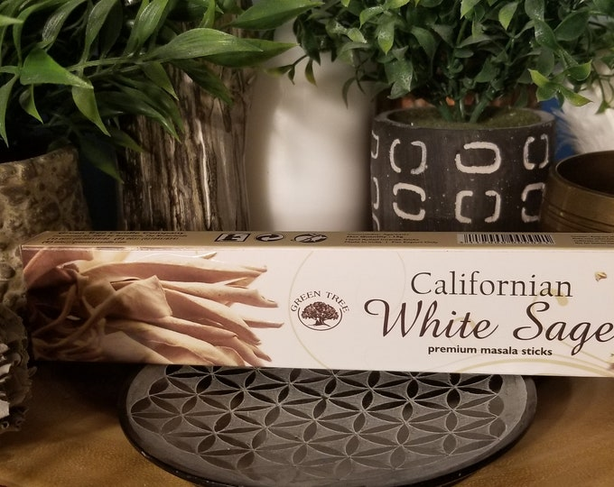 Green Tree Californian White Sage Premium Masala Incense Sticks