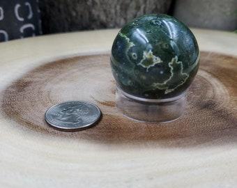 Ocean Jasper Sphere, 38 mm in Diameter, Weighs 77 grams