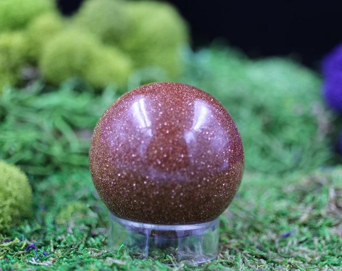 Red Goldstone Sphere