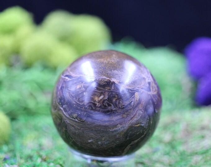 Stromatolite Brown Onyx Sphere