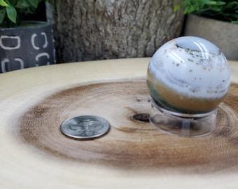 Ocean Jasper Sphere, 39 mm in Diameter, Weighs 82 grams