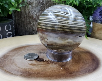 Ocean Jasper Sphere, 79 mm - 637 grams