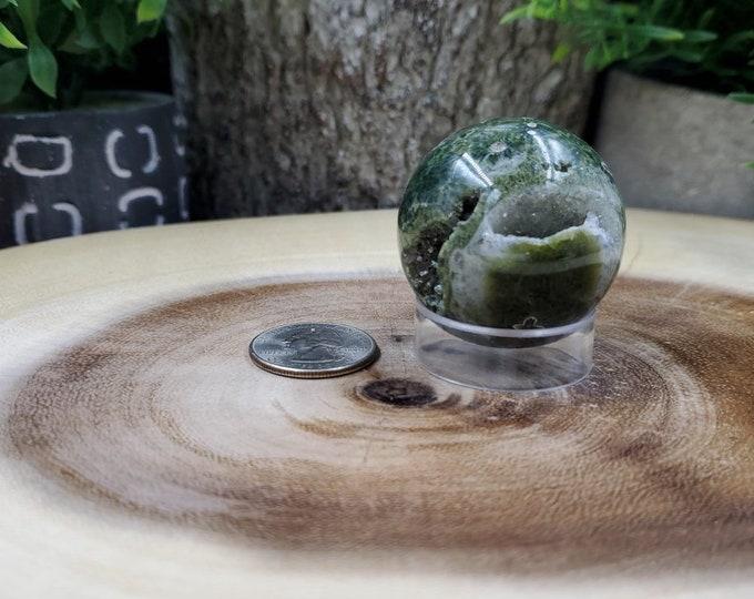 Ocean Jasper Sphere, 39 mm in Diameter, Weighs 83 grams