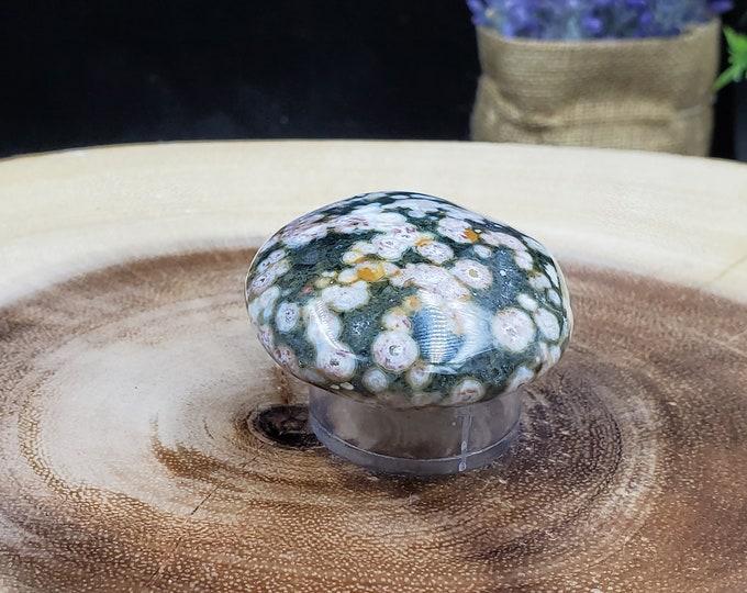 Ocean Jasper Palm Stone, Weight 70 g, Length 5 cm