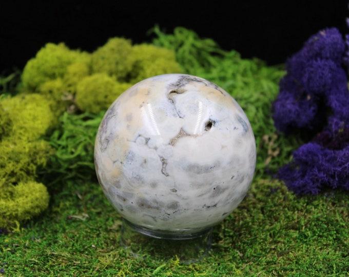 Large Ocean Jasper Sphere