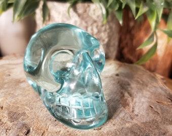 Aqua Obsidian Skull