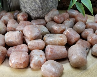 One Sunstone Tumbled Stone
