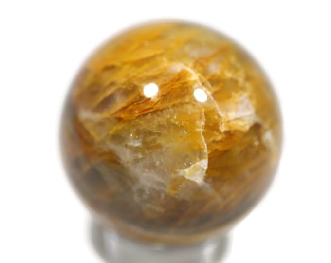 Yellow Hematoid Quartz Sphere