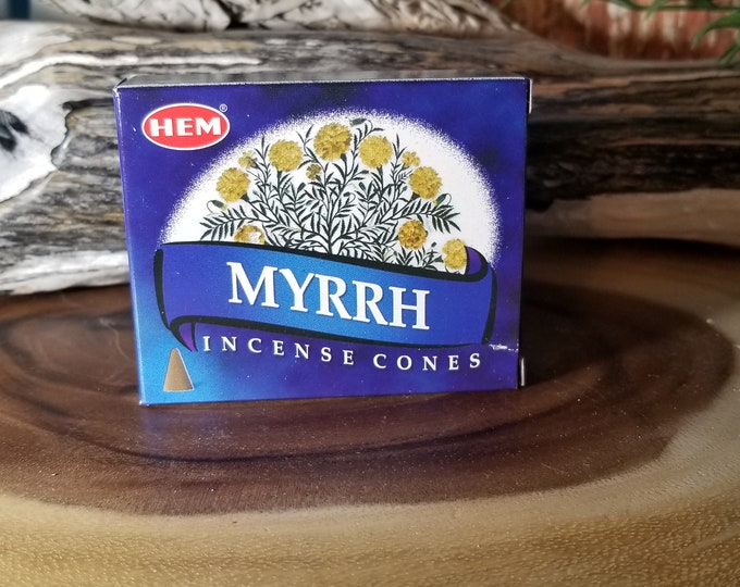 Hem Incense Cones/myrrh INC1