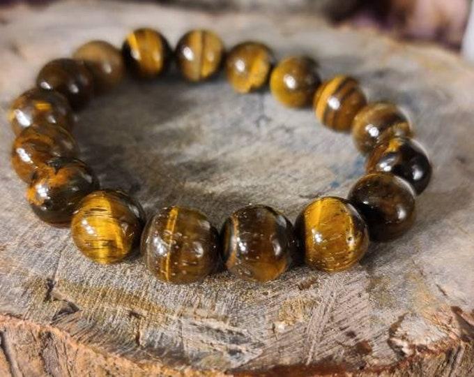 Beaded Golden Tiger's Eye Bracelet BCT11
