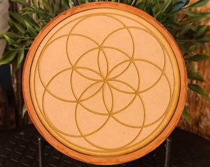 Wooden Seed of Life Crystal Grid