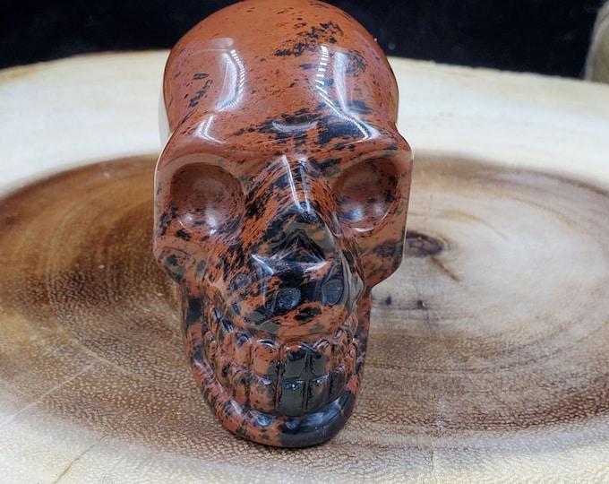 2 Inch Mahogany Obsidian Skull M38