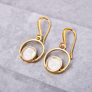 Square Opal EarringsTurquoise Opal EarringOpal Earrings DangleOpal Dangle EarringsOpal Earring HoopGold Dangle EarringsOpal Earrings