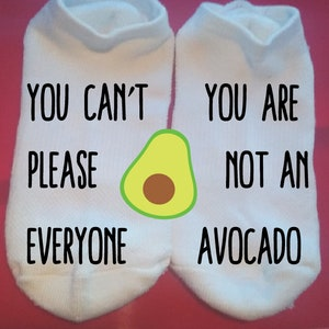 Custom Socks Lucky Socks Fun Socks Let/'s Get Smashed Avocado Gift Socks  ** NOT VINYL ** Food and Drink Socks