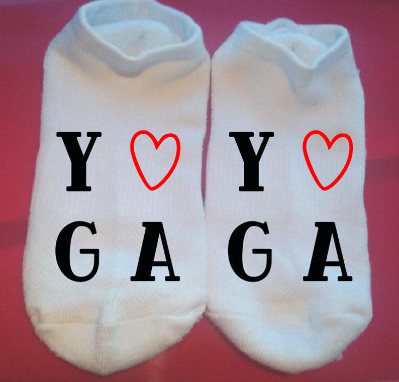 Yoga Heart Lucky Socks Custom Socks Gift Socks  ** NOT VINYL ** Motivational Socks