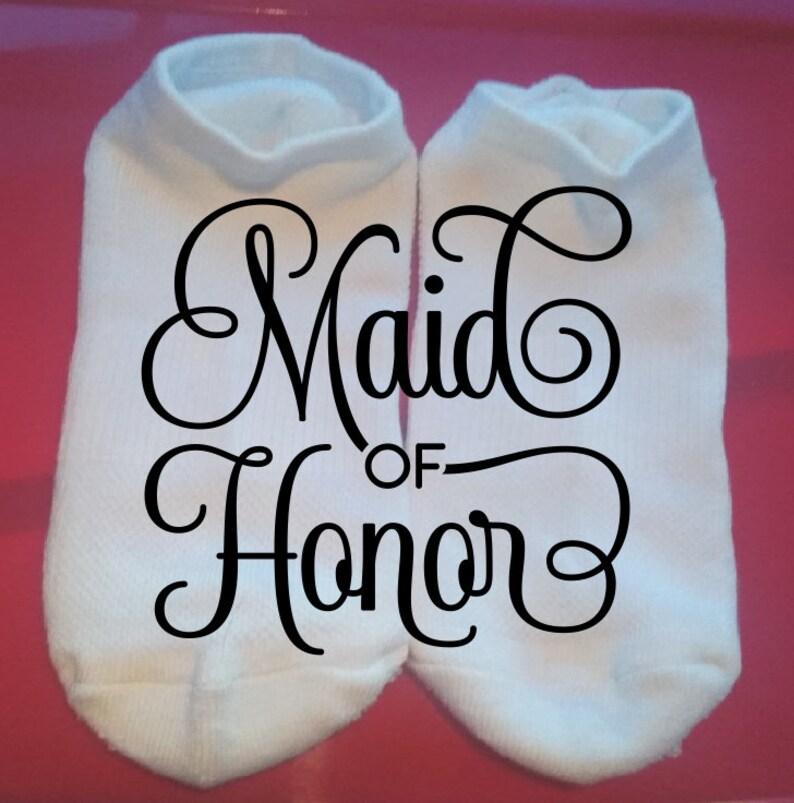 Wedding Socks Gift Socks  ** NOT VINYL ** Lucky Socks Bridal Party Socks Custom Socks Maid of Honor