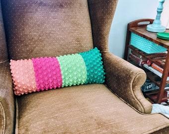 Textured Bobble Bolster Pillow Crochet Pattern