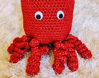 Unique Handmade Crocheted Octopus Chalk Bag Pattern