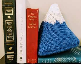 Easy Mountain Door Stop/Book End Crochet Pattern for your Home!