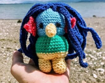 Cute Crocheted Amabie Amigurumi - Her Image is Said to Cure Pandemics! - Crochet Pattern