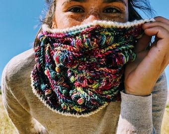 Cozy, Textured Ripple Rainforest Cowl Crochet Pattern