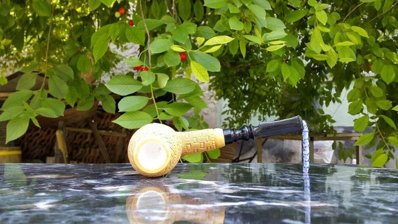 Meerschaum Pipe Special Design Acrylic Push /& Pull Stem