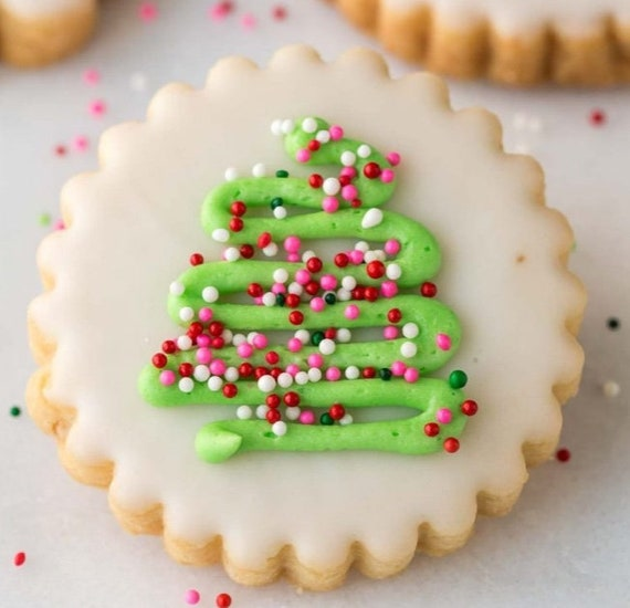 Christmas Sugar Cookies Simple Christmas Cookies Christmas Cut Out Cookies Tree Cut Out Cookies 1 Dozen