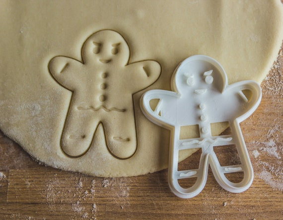 Gingerbread Cookie Cutter Christmas Cookie Cutter Gingerbread Man Biscuit Cutter Holidays Dough Cutter Funny Cookie Cutter