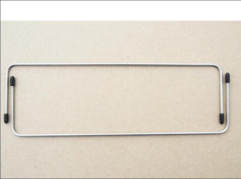 Pair of pocket brackets / bag frame 30 cm x 8 cm stainless image 0