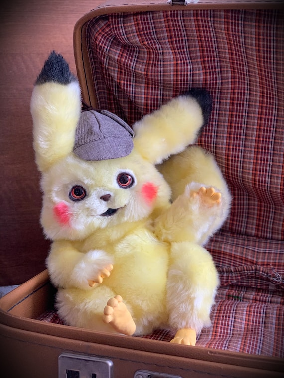 Detective Pikachu In Stocktoy Pokemon Pikachu Soft Toy Etsy