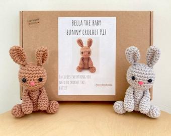 Crochet kit for a cute amigurumi animal toy ~ Bella the baby Bunny