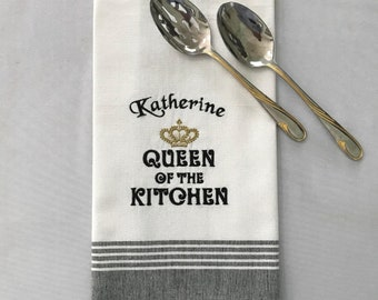 Embroidered Kitchen Towel-Personalized