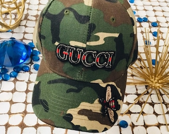 63a7528448a Gucci inspired GI Camouflage Snapback.