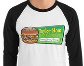 Taylor Ham 3/4 Sleeve Jersey - Taylor Ham Egg & Cheese - Taylor Ham Shirt - New Jersey Shirt - Gift for Taylor Ham Lovers - Taylor Ham NJ -