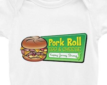 Pork Roll Infant Bodysuit - Pork Roll Onesie - Pork Roll Clothing - Pork Roll Gift - Pork Roll Egg & Cheese - New Jersey Onesie