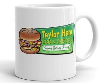 Taylor Ham Coffee Mug - Taylor Ham Egg & Cheese - NJ Coffee Mug - New Jersey Coffee Mug - New Jersey