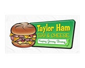 Taylor Ham Beach Towel - Jersey Shore Towel - Taylor Ham Egg & Cheese - Jersey Shore Beach Towel - Taylor Ham